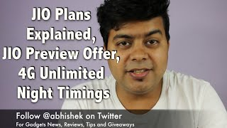 Hindi  FAQ JIO Plans Explained JIO Welcome Offer Unlimited 4G At Night And More  Gagdets To Use