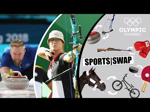 Archery vs Curling | Can They Switch Sports? | Sports Swap Challenge