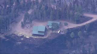 Aerial view of Spring Fire burn area