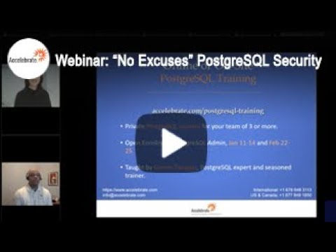 No Excuses PostgreSQL Security