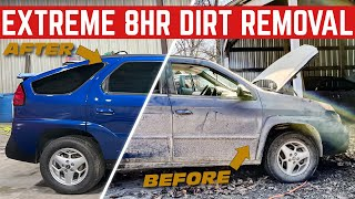 Extreme DISASTER Detail: 8 Hours Of Cleaning My BARN FIND Pontiac Aztek