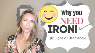 12 Signs of Iron Deficiency (Plus, the BEST Iron Supplement!)