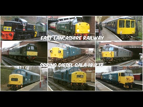 The East Lancashire Railway Spring Diesel Gala featuring Cla…