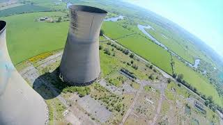 Scorching hot day at the cooling towers! Fpv flight filmed with the Caddx vista hd.