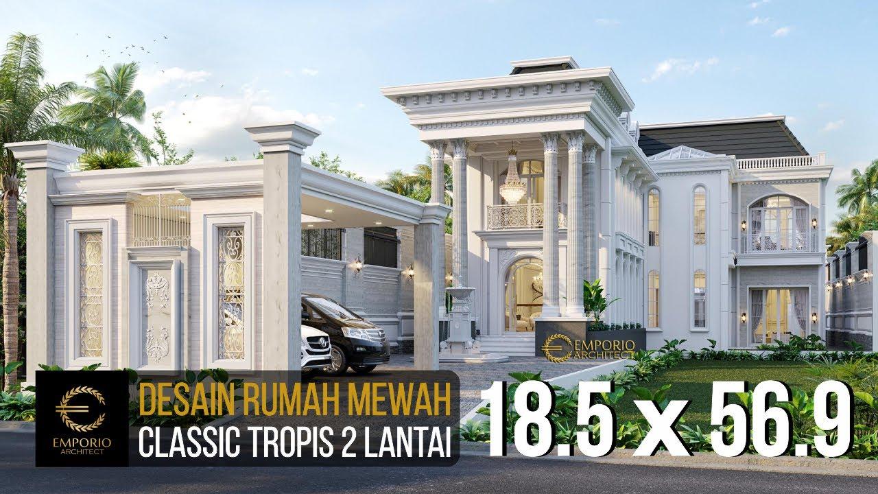Video 3D Mr. Faozian Classic House 2 Floors Design - Bandung, Jawa Barat