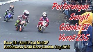 Race 16: Semi Final MiniGP Bondowoso Road Race Dandim Cup 2019