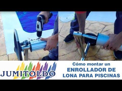 Cómo montar un enrollador de lona para piscinas