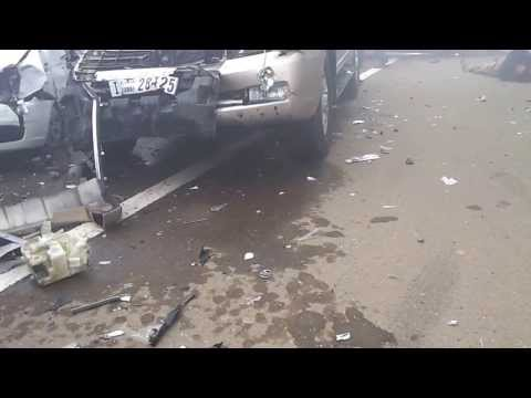 Mass Car Crash Due To Fog UAE