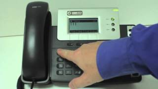 Yealink T26 How to listen to voicemail