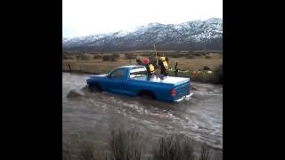 A couple from Lake Isabella was rescued today after being caught in a Flash Flood