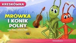 Mrówka i Konik Polny bajki dla dzieci po Polsku | Bajka na Dobranoc
