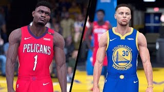 NBA 2K19 - New Orleans Pelicans vs. Golden State Warriors - Full Gameplay (Updated Rosters)