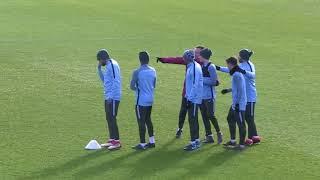 Тренировка Манчестер Сити перед матчем с Базелем.
