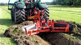 Extreme Fast Trimming Soil Slope Heavy Equipment  A Harvester For Cleaning Drainage Ditches Machines