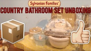 LPS: Sylvanian Families Country Bathroom Set Unboxing