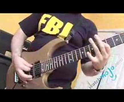 Guitarist playing Bedroom Eyes by Yngwie Malmsteen