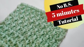 Crochet Alpine Stitch Video I Quick & Easy Crochet Pattern
