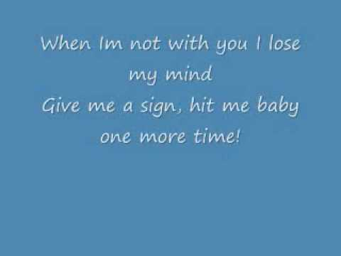 Hit Me Baby One More Time With Lyrics