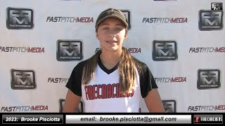 2023 Brooke Pisciotta Slapper Catcher & Middle Infielder Softball Skills Video -Arizona Firecrackers