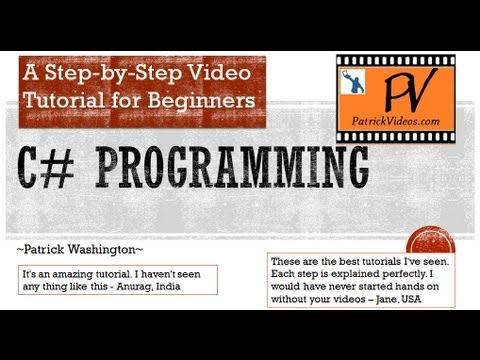 C# programming tutorial – Step by Step – PatrickVideos