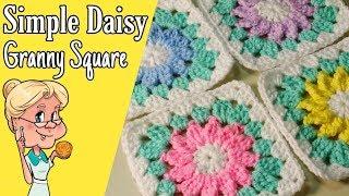 Simple Daisy Granny Square - Crochet Tutorial - FREE PATTERN