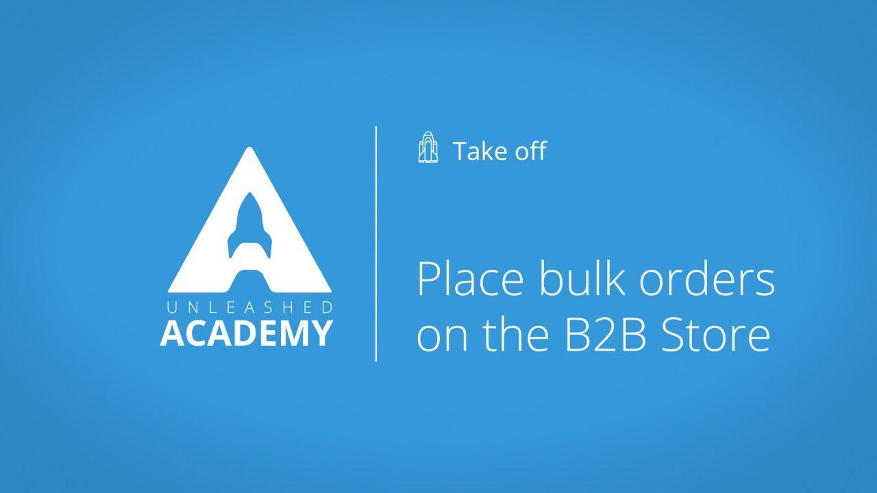 Place bulk orders on the B2B Store YouTube thumbnail image
