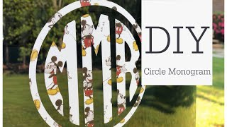 How To Make A Circle Monogram Decal