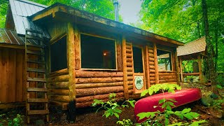 Adding A Screened Door To My Log Cabin And More Off Grid Cabin Life