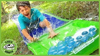 Dinosaur Mystery Birthday Toys Hunt! Fun Kids Party with Surprise Toy Dinosaurs & Pretend Play