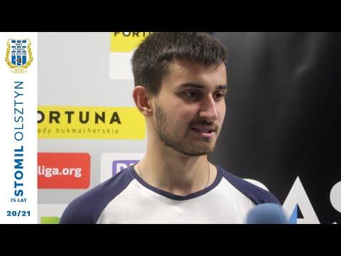 Hubert Sadowski po meczu Stomil Olsztyn - Arka Gdynia 1:1