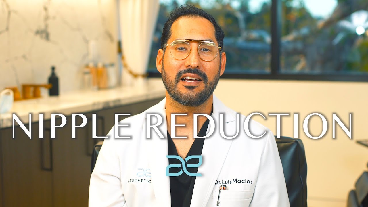 Dr. Macias In Lab coat talking about Nipple Reduction