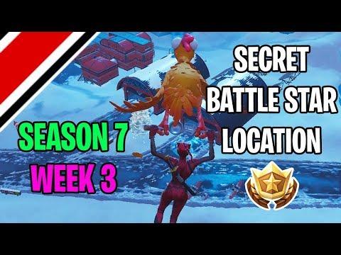 Fortnite Season 7 Week 3 Secret Battlestar Battle Flag Location
