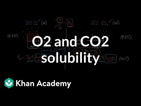 O2 and CO2 solubility (video) | Gas exchange | Khan Academy
