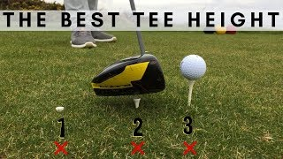 THE PERFECT TEE HEIGHT FOR ALL CLUBS