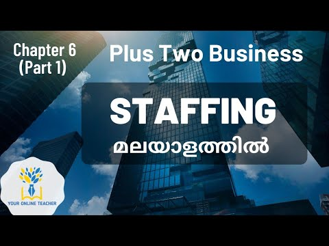 STAFFING//PLUS TWO BUSINESS STUDIES IN MALAYALAM (2019)