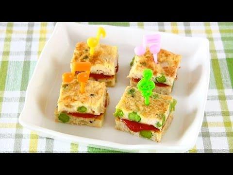 Tuna Egg Bite-Size Tamagoyaki Sandwich (Recipe) ツナの卵焼きサンド (レシピ)