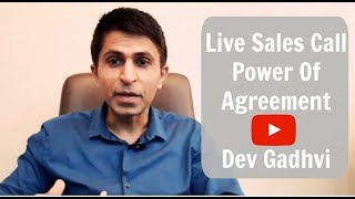 Live Sales Call - Power Of Agreement - India Sales Training