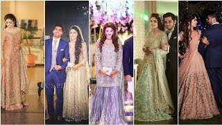 Top Walima Dress/suit Light Colour Matching Bride Groom Wedding Outfits||latest Dress Combination