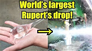 How Strong Are Prince Rupert's Drops? Hydraulic Press Test!