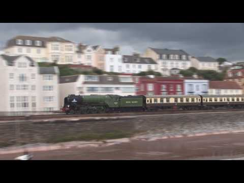 60163 'Tornado' at speed with 'The Torbay Express' from Bris…