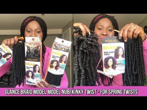 HOW TO DO SPRING TWISTS - MODEL MODEL NUBI KINKY TWIST HAIR