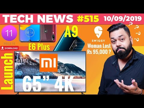 "Mi TV 65"" 4K Launch, iPhone Launch Live, MIUI 11 Download, Moto E6 Plus Launch, OPPO A9 2020-TTN#515"