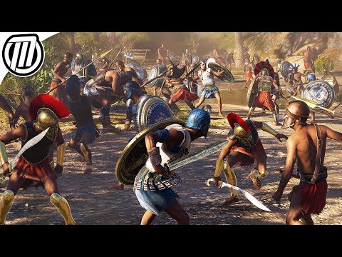Assassin's Creed Odyssey: HUGE 300 Soldier Battle Gameplay (Spartan Conquest 4K)