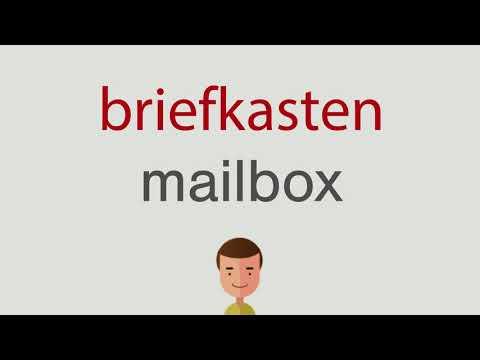 Wie heißt briefkasten auf englisch