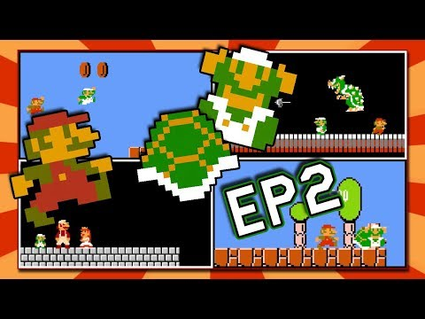 2 Players at Once in Super Mario Bros  NES | 2 Players Hack