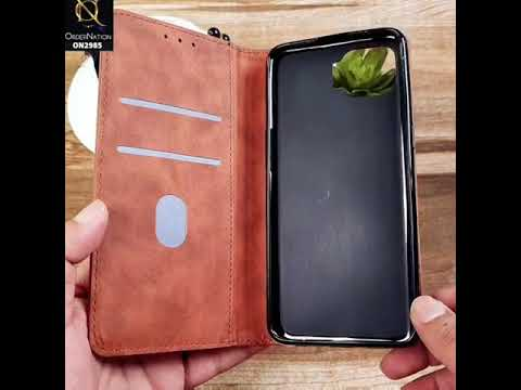 Xiaomi Mi 10T Cover - Brown - Elegent Leather Wallet Flip book Card Slots Case