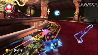[MK8 WR] Twisted Mansion - 1:54.927 - Tyler (LIVE VS GHOST)