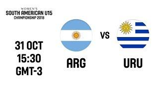 LIVE - Argentina v Uruguay - South American U15 Women