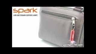preview picture of video 'spotlight spark - LED keychain zipper light'