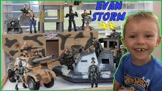 Toy Army Action Figures Surprise Box With Toy Tanks, Trucks & Boat